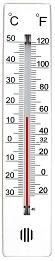 Thermometer Celsius - Fahrenheit